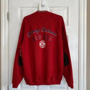Tommy Bahama Red Sox Embroidered Half-Zip Sweater